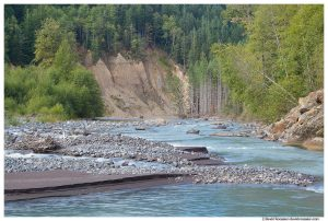 Gravel Bars, White River, Mount Rainier National Park, Washington State, Summer 2015