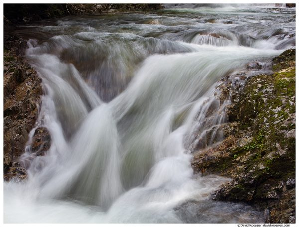 Cascade in Spring, Denny Creek, Snoqualmie Pass, Washington State, Spring 2016