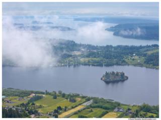 Lake Campbell from Mount Erie, Fidalgo Island, Washington State, Spring 2016
