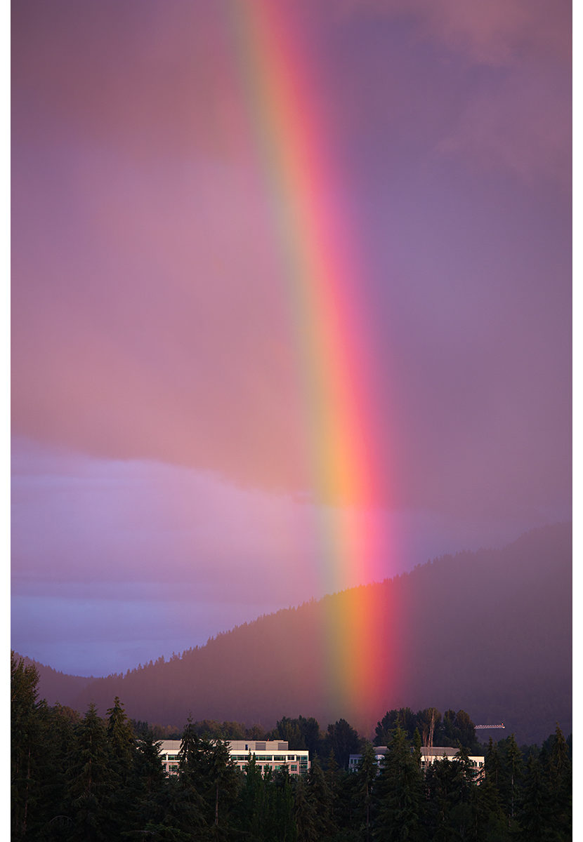 Rainbow, Lake Sammamish State Park, Washington State, Summer 2016