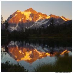 Mount Shuksan Glow, Mount Baker Wilderness, Washington State