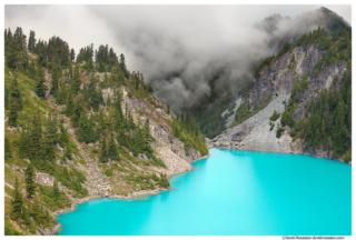 Jade Lake Peaks and Clouds, Snoqualmie Region, Washington