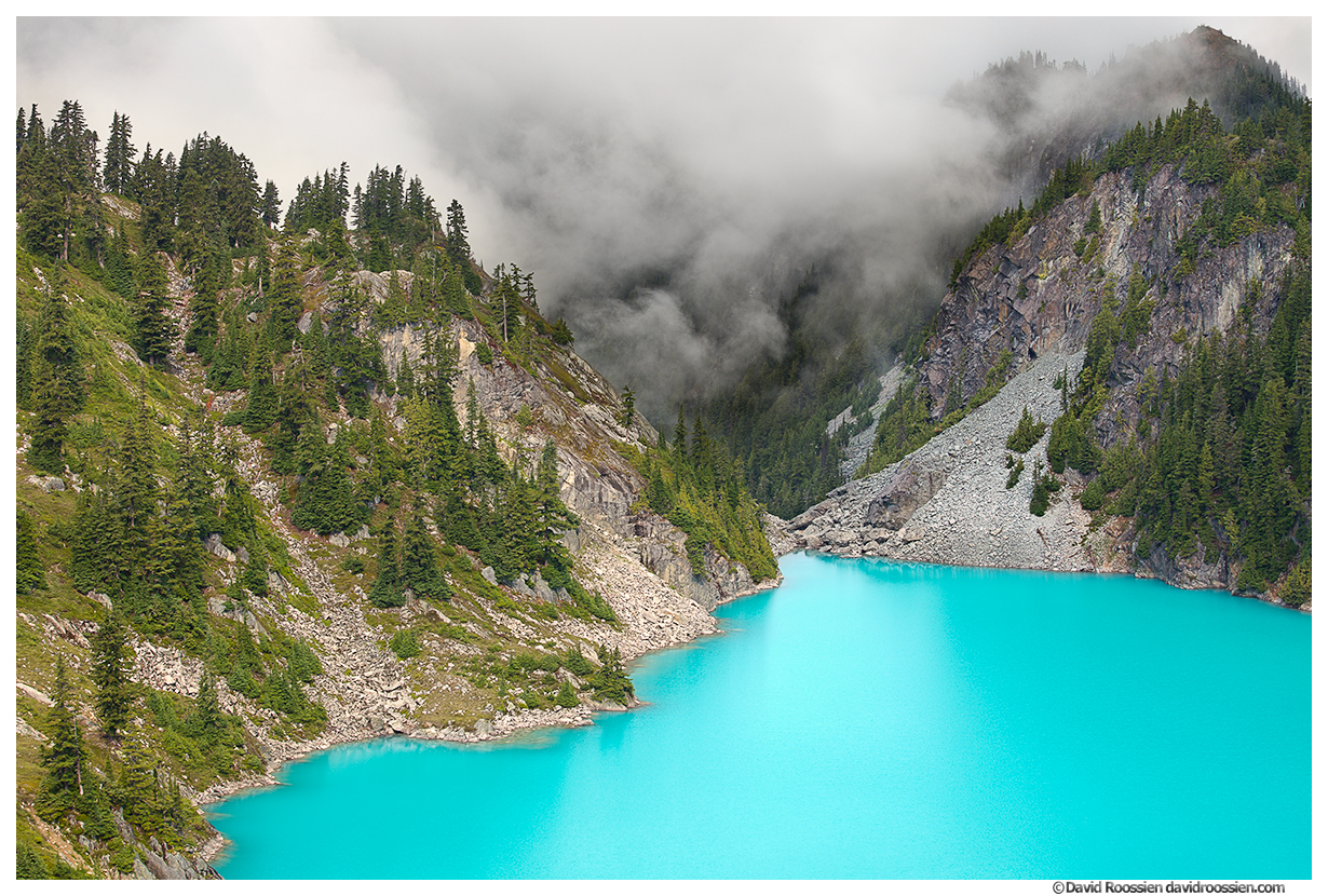 Jade Lake Peaks and Clouds, Snoqualmie Region, Washington