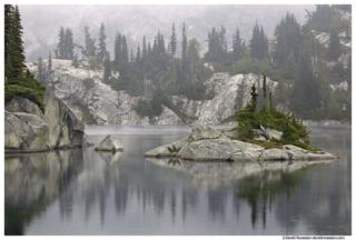 Robin Lake Island and Raindrops, Cle Elum, Washington