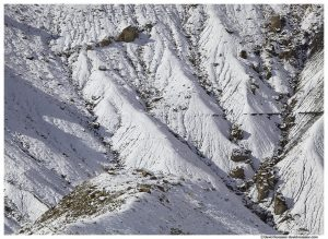 Snowy Cliff Closeup, Castle Dale, Central Utah, Winter 2014