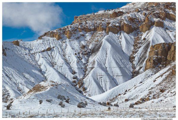 Snowy Cliffs, Castle Dale, Central Utah, Winter 2014