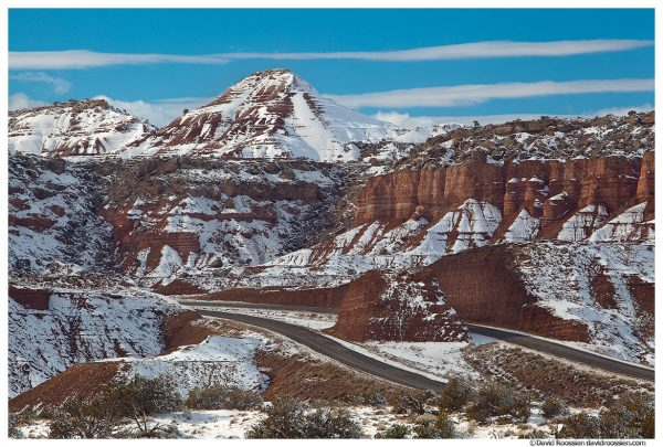 Clearing Winter Storm, US Highway 70, Castle Dale, Utah, Winter 2014