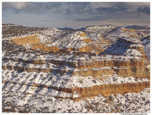 Snow Dusted Cliffs, San Rafael Swell, Utah, Winter 2014