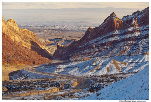 Switchbacks, US Highway 70, San Rafael Swell, Utah, Winter 2014