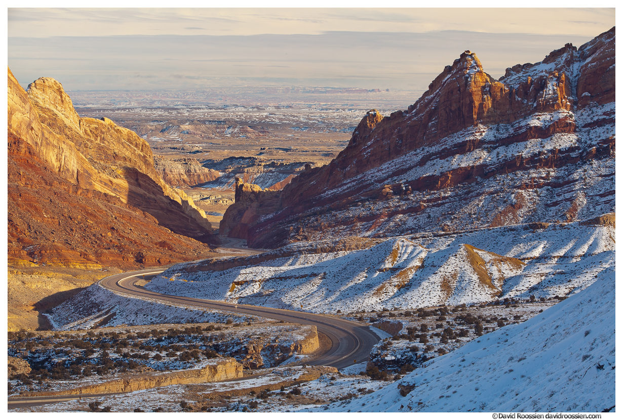 Steep Grade Switchbacks, US Highway 70, San Rafael Swell, Utah, Winter 2014