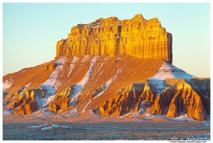 Butte at Sunrise, Goblin Valley, San Rafael Swell, Utah, Winter 2014