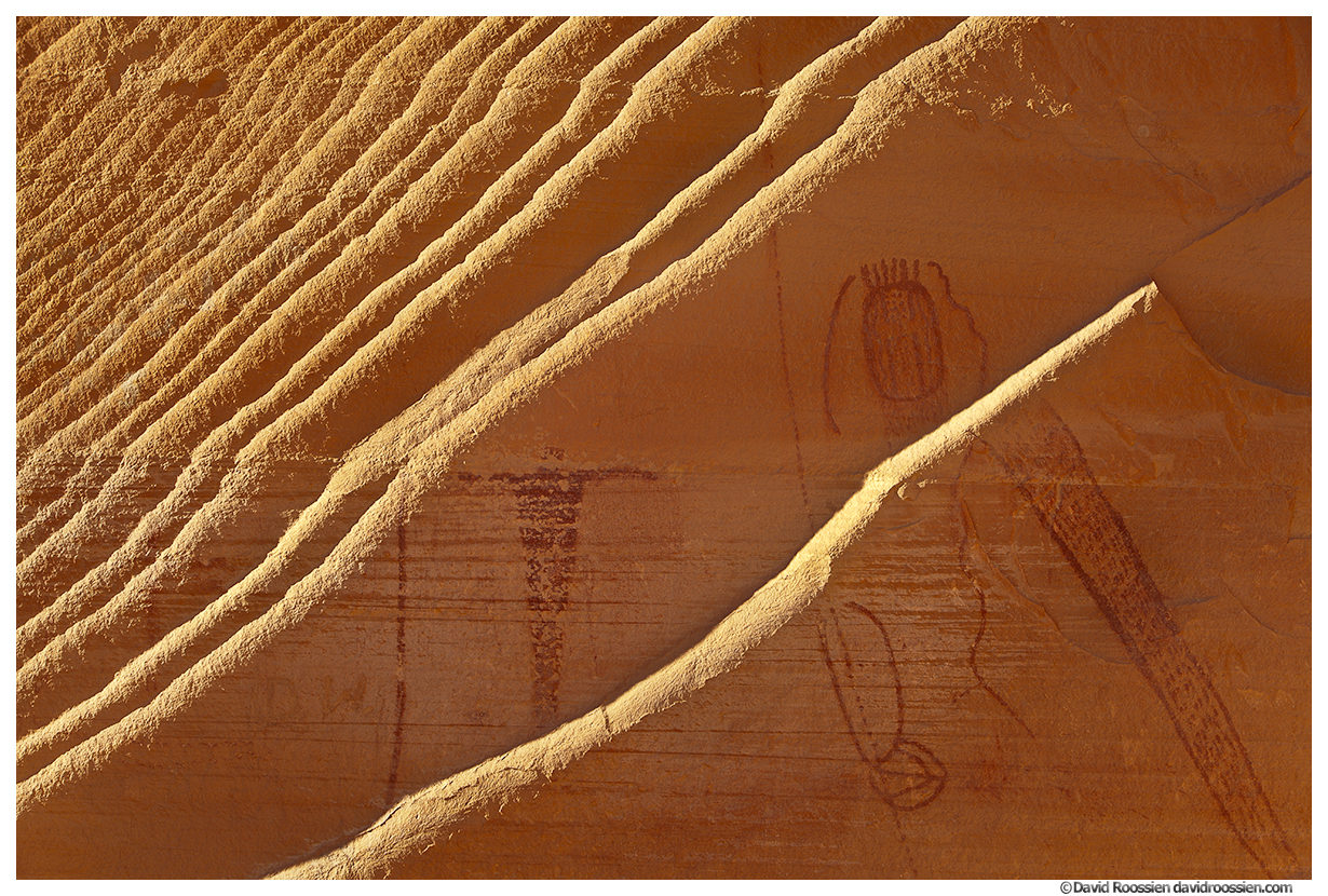 Fins and Petroglyphs, Buckhorn Wash, San Rafael River, The Wedge, Central Utah, Spring 2014