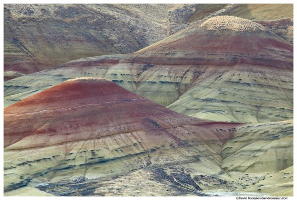 Painted Peaks, Painted Hills of Oregon, Painted Hills National Monument, Mitchell, Oregon, Fall 2016