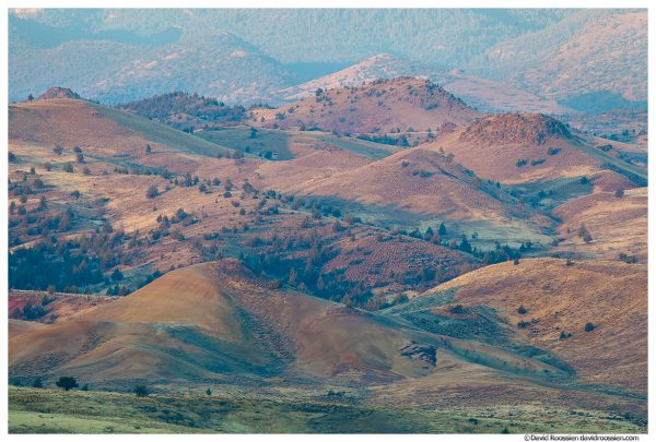 Painted Hillsides, Painted Hills of Oregon, Painted Hills National Monument, Mitchell, Oregon, Fall 2016