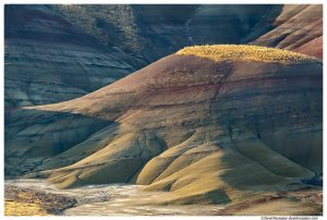 Painted Hills and Shadows, Painted Hills of Oregon, Painted Hills National Monument, Mitchell, Oregon, Fall 2016