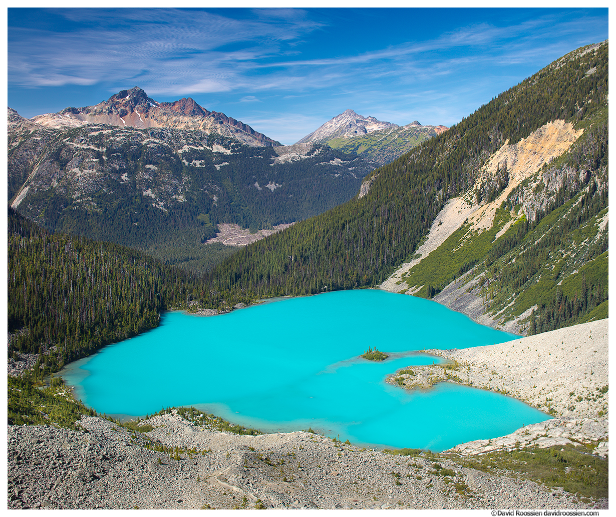 Upper Joffre Lake From Joffre Glacier, British Columbia, Canada