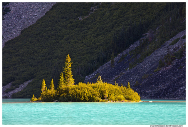 Island and Talus Slopes, Upper Joffre Lake, Joffre Lakes Provincial Park