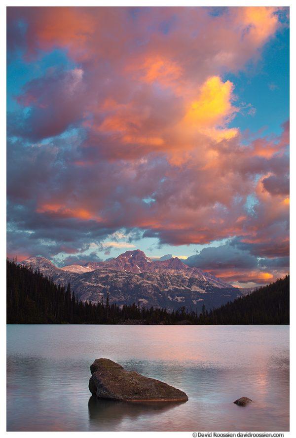 Sunrise at Upper Joffre Lake, British Columbia, Canada, Summer 2016