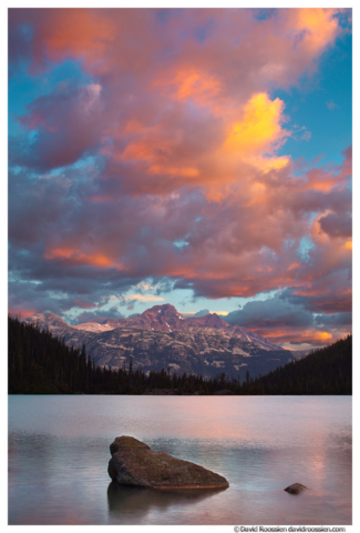 Sunrise at Upper Joffre Lake, British Columbia, Canada