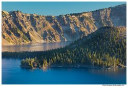 Wizard Island and North Rim, Crater Lake National Park, Oregon