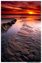 Little Pigeon Creek Sunset, Lake Michigan, Ottawa County, Michigan