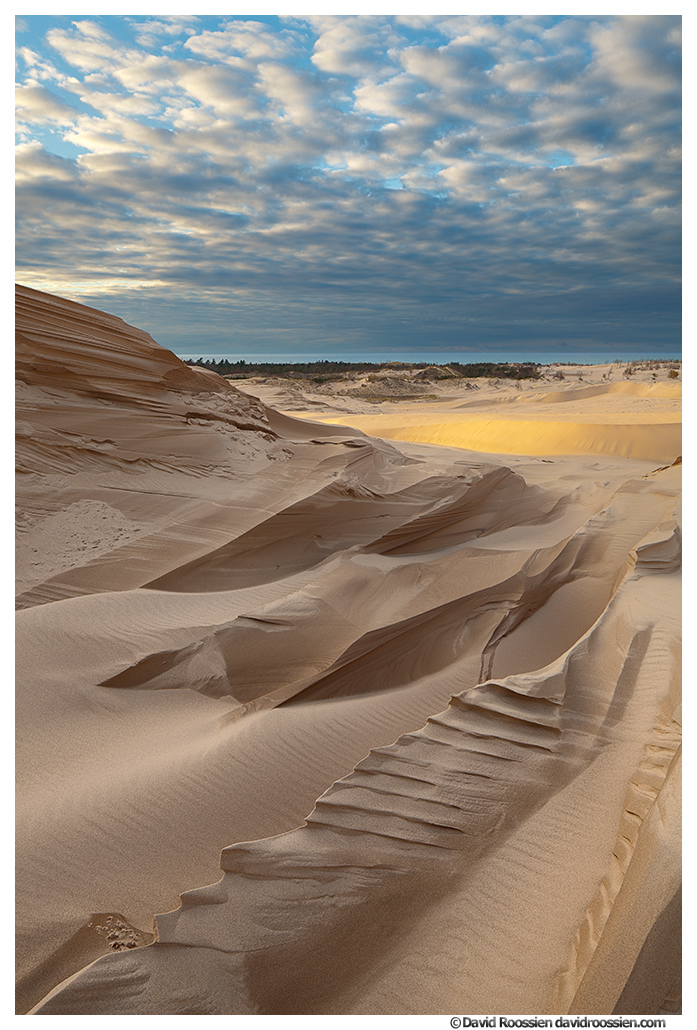 Serrated Sand Dune and Clouds, Silver Lake, Oceana County, Lake Michigan