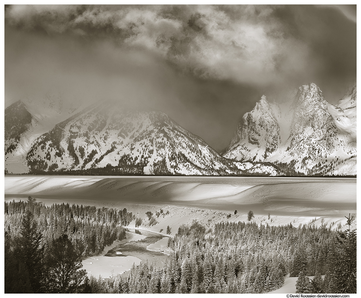 Clearing Winter Storm, Snake River Overlook, Grand Tetons National Park, Wyoming, Winter 2014
