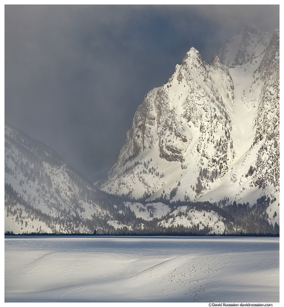 Elephant Peak, Clearing Winter Storm, Snake River Overlook, Grand Tetons National Park, Wyoming, Winter 2014