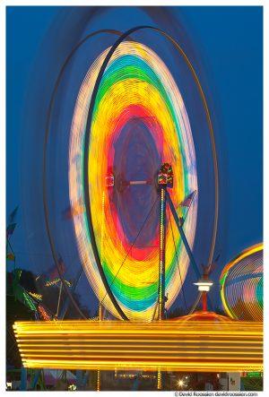 Carnival and Ferris Wheel, Markey Park, Belton, Missouri, Summer 2014