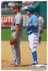 Miguel Cabrera and Billy Butler at Kauffman Stadium, Kansas City, Missouri