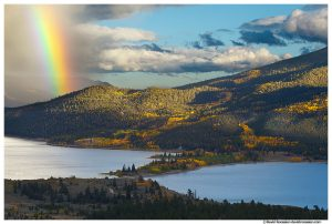 Clearing Storm and Rainbow over Twin Lakes, Colorado