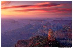 Sunrise at Mount Hayden, North Rim, Grand Canyon, Arizona
