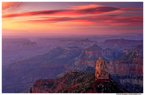 Sunrise at Mount Hayden, North Rim, Grand Canyon, Arizona