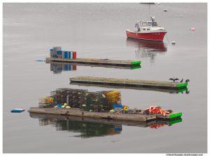 Lobster Boat Dock and Cormorants, Northeast Harbor, Acadia National Park, Maine