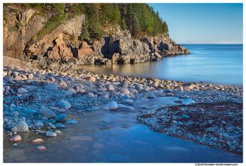 Creek and Cliffs at Hunters Beach, Acadia National Park, Maine