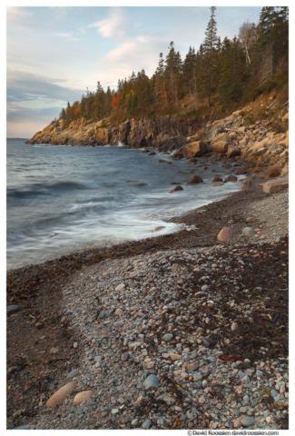 Curved Cobblestones, Hunters Beach, Acadia National Park, Maine