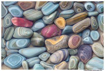 Striated Stones, Lake Josephine, Glacier National Park, Montana