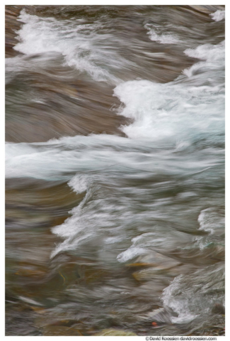 McDonald Creek and Waves, Glacier National Park, Montana