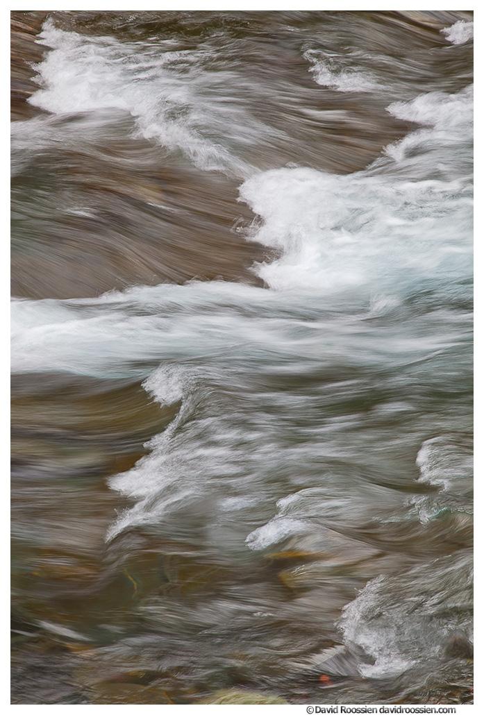 McDonald Creek and Waves, Glacier National Park, Montana