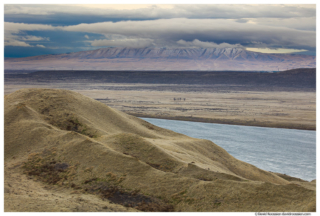 Clearing Winter Storm Over The White Bluffs, Columbia River, Hanford Reach, Washington State