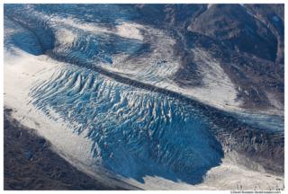 Shadow on Carbon Glacier From Burroughs Mountain, Mount Rainier National Park, Washington State