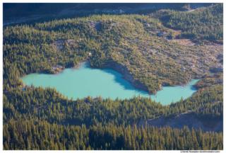Emmons Glacier Fed Lake, White River, Mount Rainier National Park, Washington State