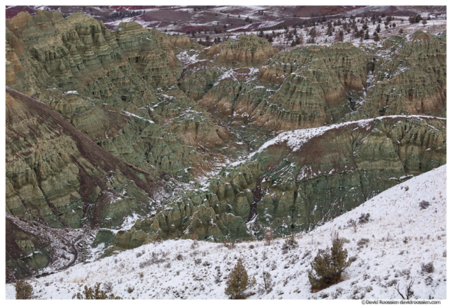 Blue Basin Overlook in Winter, John Day National Monument