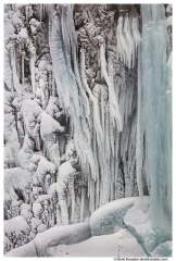 Icicles, Franklin Falls, South Fork Snoqualmie River at the Pass, Washington State