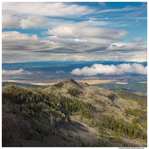 Yakima River Valley, Kittitas Valley Wind Farm, From Table Mountain, Washington State