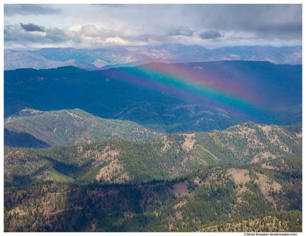 Rainbow Over Squak Ridge, From Lion Rock, Table Mountain, Washington State