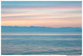 Twilight, Strait Of Juan de Fuca, Salish Sea, Washington State