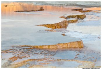 Infinity Pool Steps, Upper Terrace, Mammoth Hot Springs, Yellowstone National Park, Wyoming