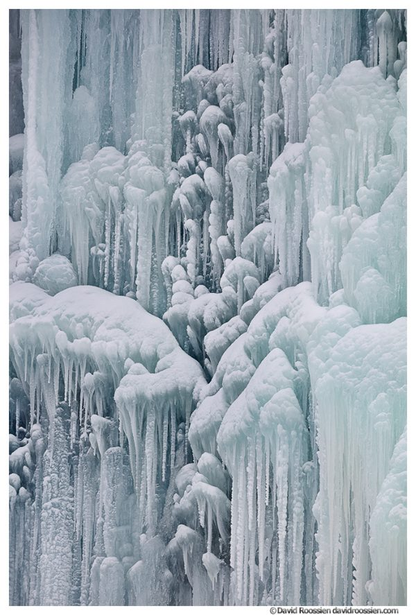 Franklin Falls Detail, Snoqualmie Pass, Washington State, February 2021