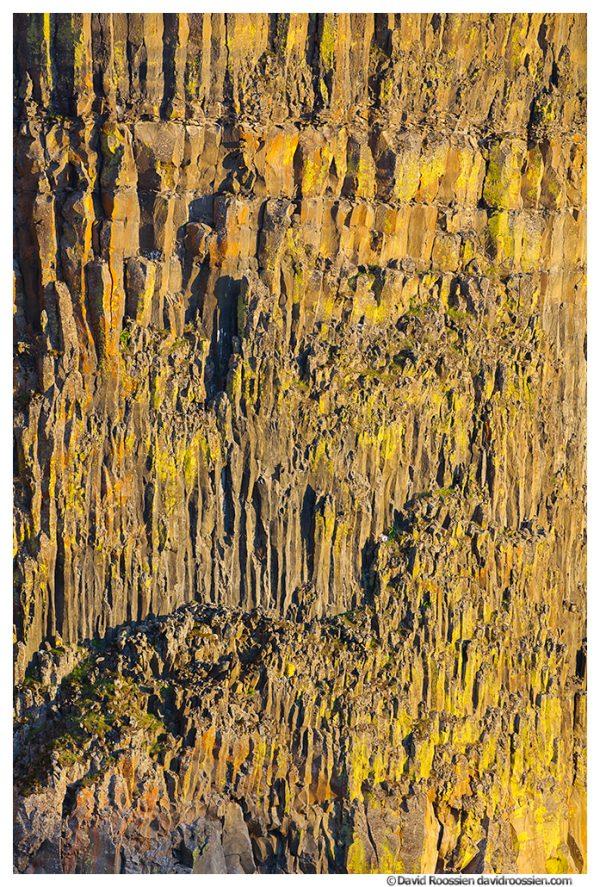 Evening Glow on Basalt Cliff, Palouse River Falls, Washtucna, Washington